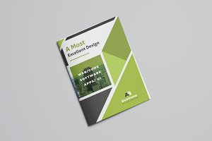 Green Corporate Bifold Brochure