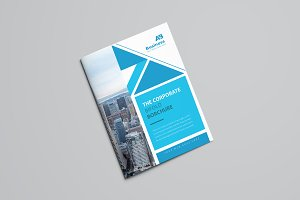 Blue Abstract Bifold Brochure