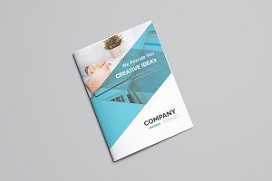 Corporate Blue Bifold Brochure