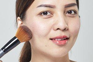 Asian woman face portrait beauty skin care