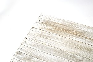 Dark white paint coated wooden pine boards as a copyspace