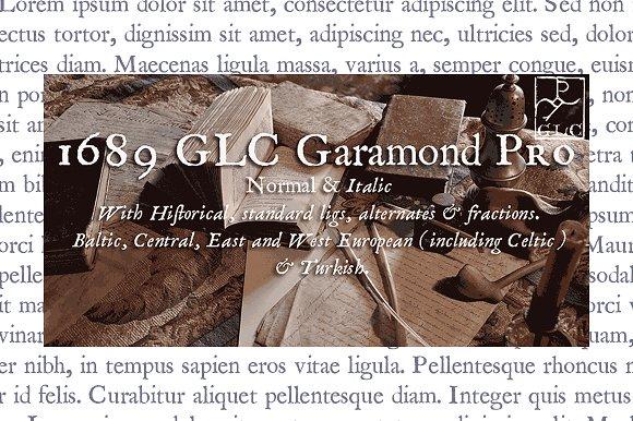 1689 GLC Garamond Pro Family