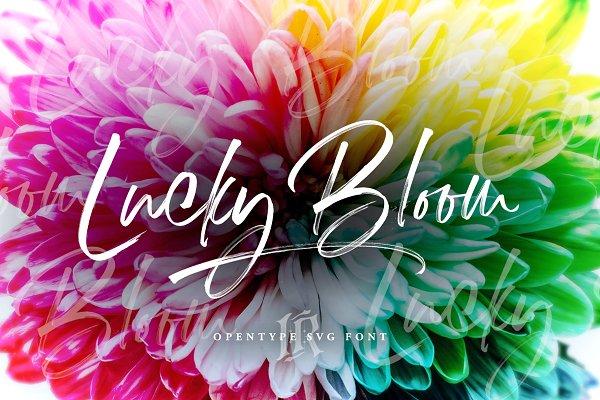 Script Fonts: Ivan Rosenberg - Lucky Bloom SVG Font