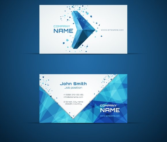 Blue arrow business card template business card templates blue arrow business card template business card templates creative market accmission Image collections