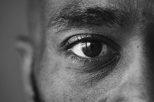 Closeup of an eye of a man