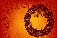 Artistic vector Christmas card