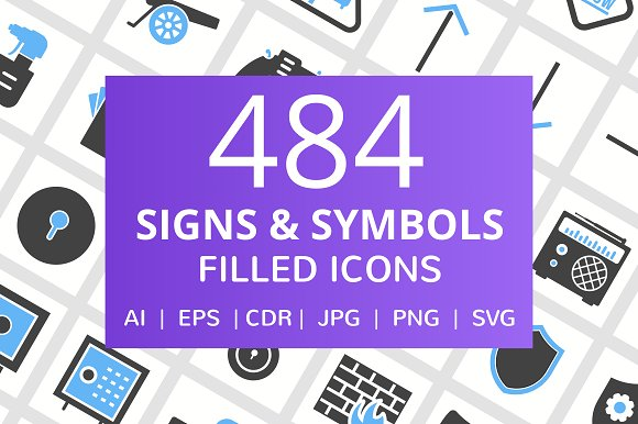 484 Signs Symbols Filled Icons
