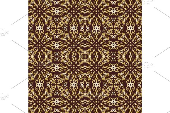 Damask Seamless Vector Pattern Orient Background