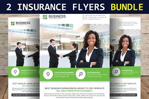 2 Insurance Business Flyers Bundle