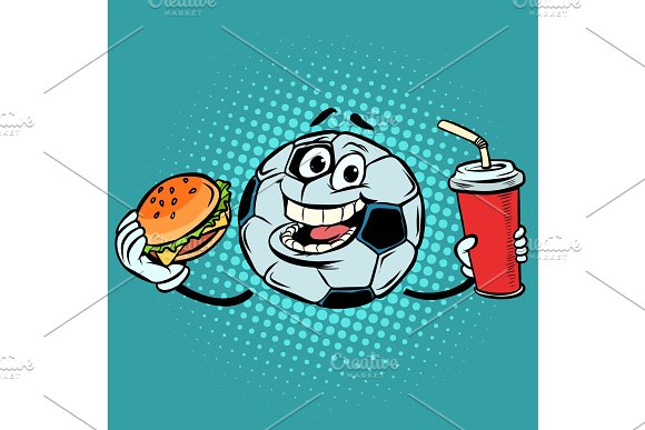Break The Match Fast Food Cola And Burger Football Soccer Ball