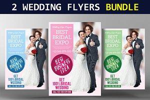 2 Wedding Flyers Bundle