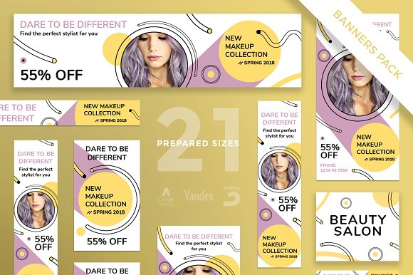 Banners Pack Makeup Collection