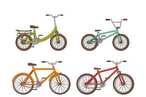 Cartoon Bicycles Collection