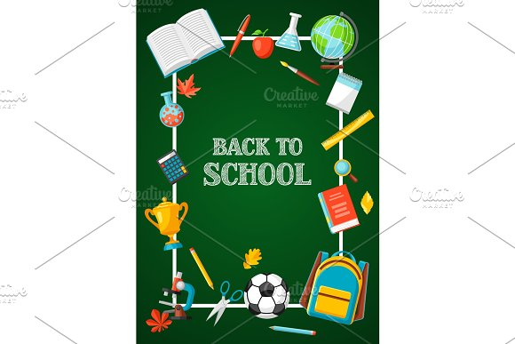 Back To School Background With Education Items