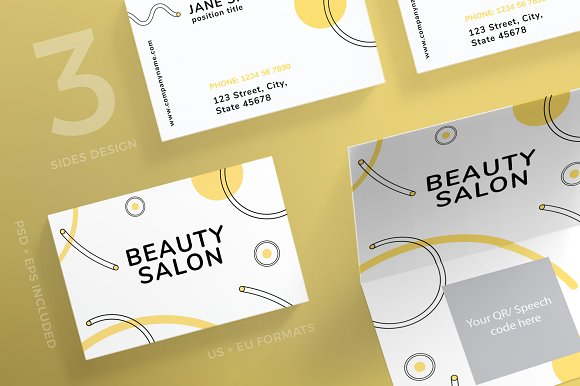 Business Cards Makeup Collection