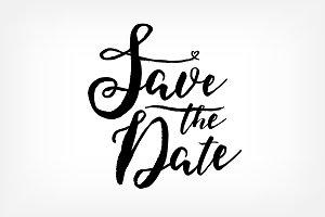 """Save The Date"" card template"