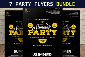 7 Party Flyers Bundle
