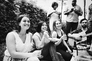 Friends enjoying a summer party