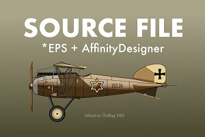 Source File Vector War Plane illustr