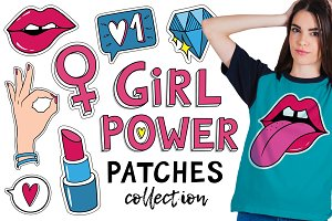 Girls patches and pins