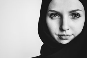 Portrait of a young Muslim woman