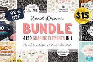 BIG Hand Drawn Bundle - 4150 in 1