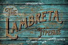 Lambreta Typeface + Extras by Dede Mulyadi in Display Fonts