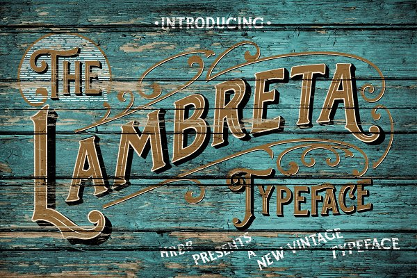 Display Fonts: HRDR - Lambreta Typeface + Extras