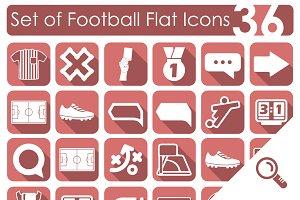 36 FOOTBALL flat icons