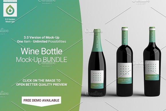 Wine Bottle Mock-Up BUNDLE