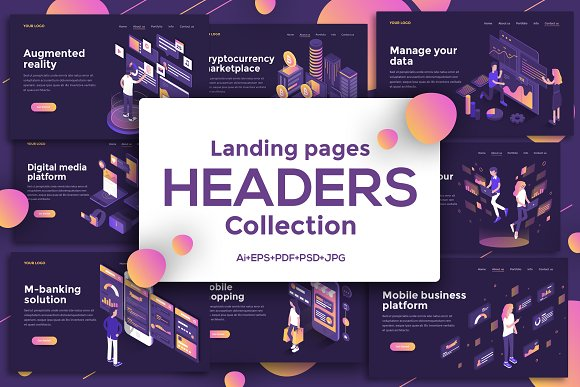 Landing Page Templates Dark Theme