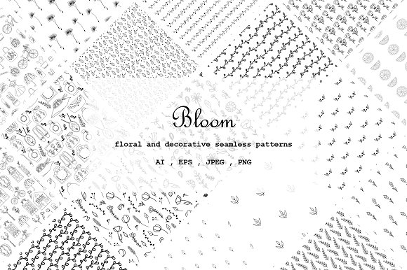 Bloom Floral Decorative Patterns
