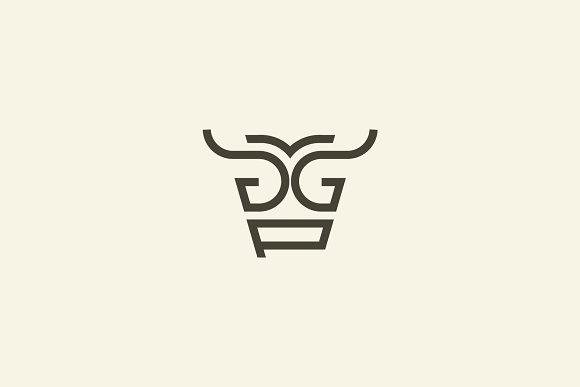 Cow Letter G P Logo