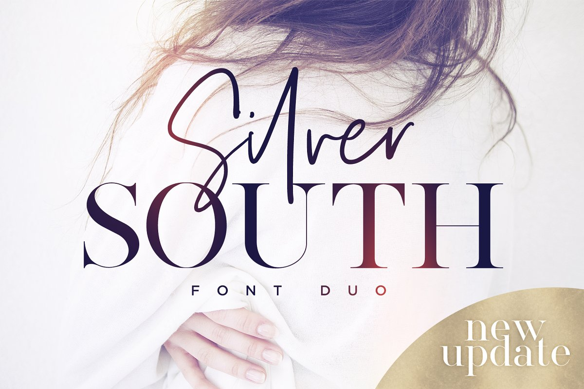Silver South Font Duo (New Update) ~ Script Fonts ~ Creative