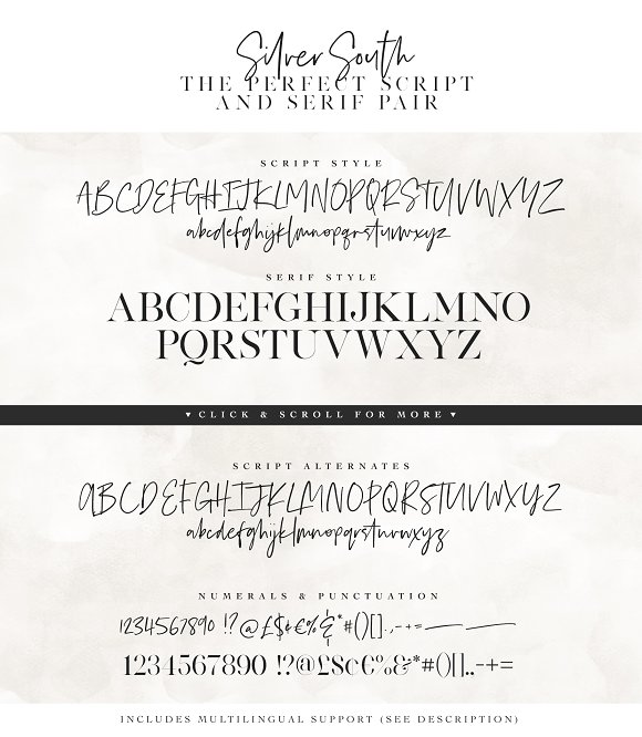 Silver South Font Duo (New Update)
