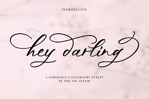 Hey Darling Calligraphy Script Font