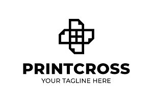 Printcross shop Logo Template