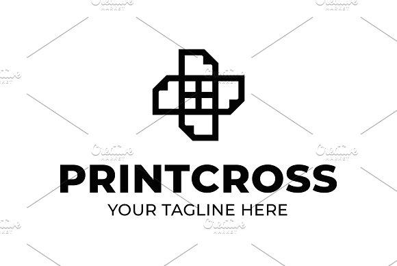 Printcross Shop Logo Template