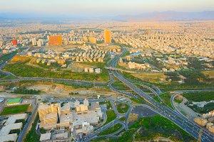 Tehran from Milad Tower. Iran
