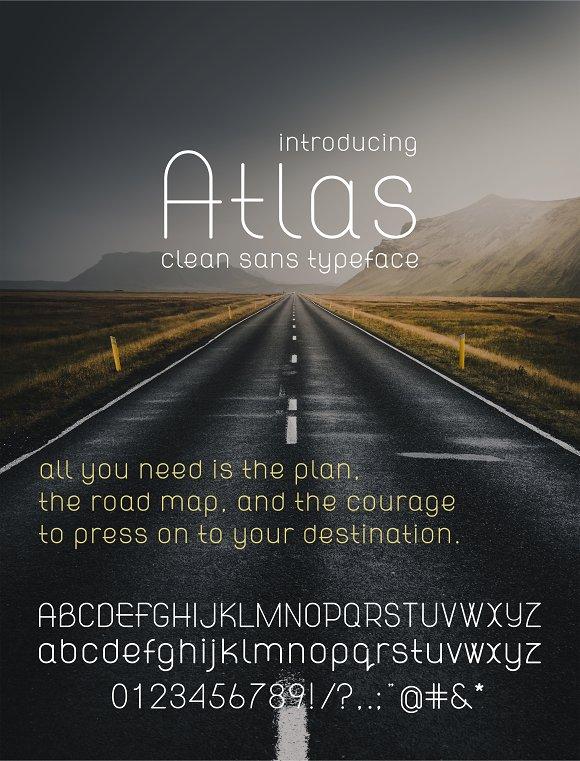 Atlas Clean Modern Sans Font