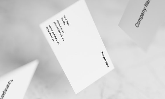 10 Marble Business Card Mockups