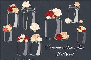 Romantic Mason Jars Chalkboard