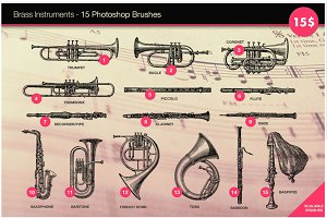 Brass Instruments 15 HD PS brushes