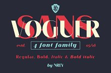 VOGUER Sans family by Andriy Dykun in Sans Serif Fonts
