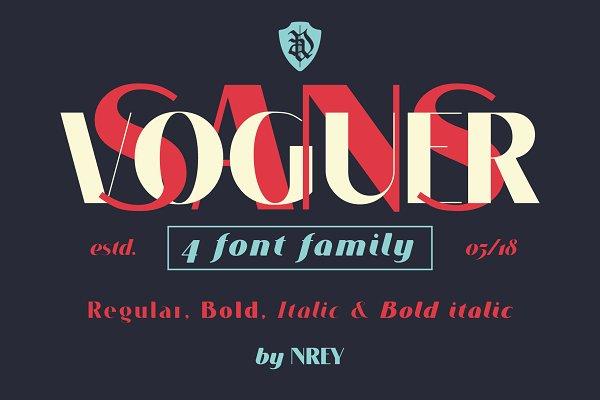 Sans Serif Fonts - VOGUER Sans family