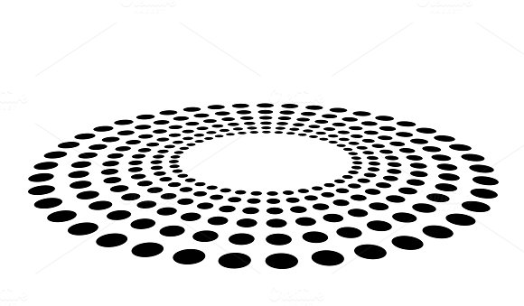 Black Abstract Dots Isolated On White Background In Technology Background 3D Circles Illustration