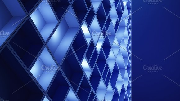 Circuit Board Blue Cubes In High-tech Technology Background 3D Pattern Abstract Illustration