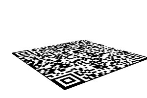 QR barcode sticker isolated on white background, 3d illustration