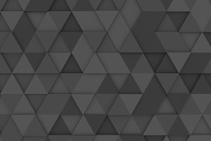 Grey triangle tiles texture, seamless pattern background. 3d illustration