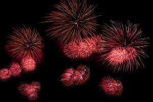 fireworks on black background